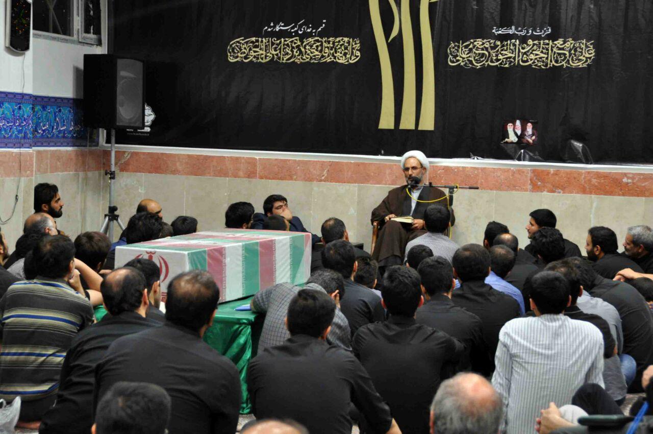 شب ۲۳ ماه رمضان ۲۸ تیر ۹۴ و حضور پیکر مطهر شهید گمنام در مجلس